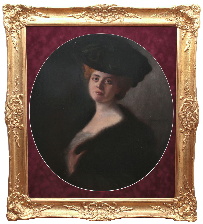 Arnulf de Bouché   Portret damy, 1903 r. sygn. i dat. p. b.: Arnulf de Bouché/1903