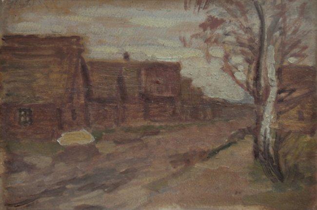 Fryderyk Pautsch | Pejzaż wiejski