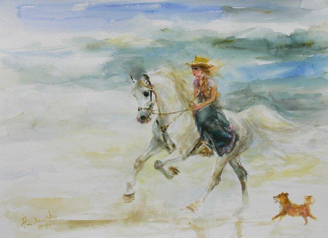 Zenon Aniszewski | Dziewczynka na koniu, 2021 r.