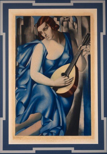 Tamara Łempicka   Kobieta z mandoliną, ok. 1933 r.
