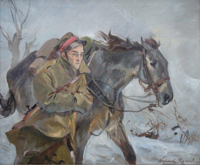 Wojciech Kossak   Ułan z koniem