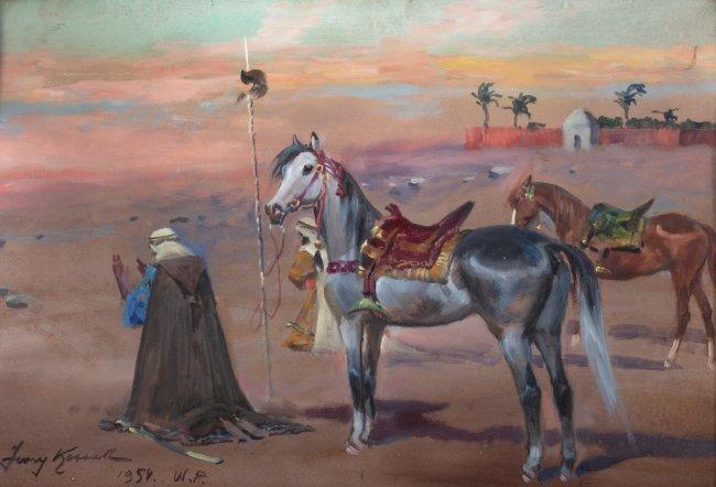 Jerzy Kossak   Modlitwa na pustyni, 1954 r.
