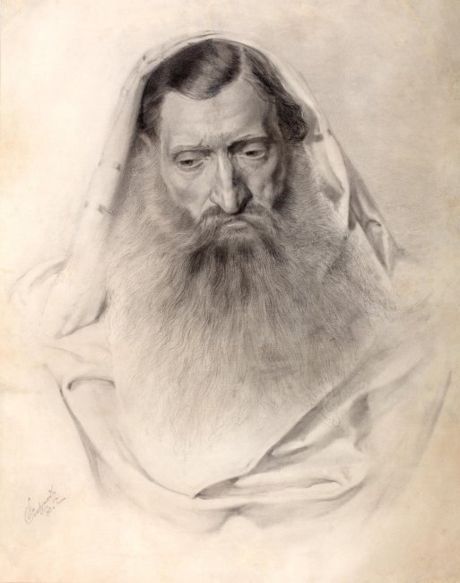 Piotr Stachiewicz   Portret Żyda, 1880 r.