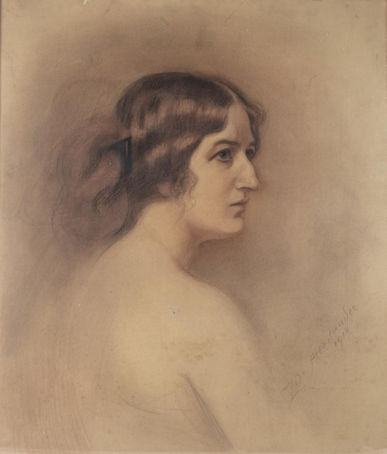 Zofia Atteslander   Portret kobiety, 1914 r.