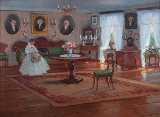 Bronisława Rychter-Janowska   W saloniku