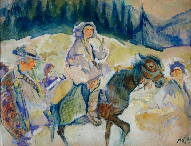 Kazimierz Sichulski   Huculi karpaccy, 1922 r.