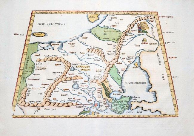 Klaudiusz Ptolemeusz | Europae Tabula Octava Continent