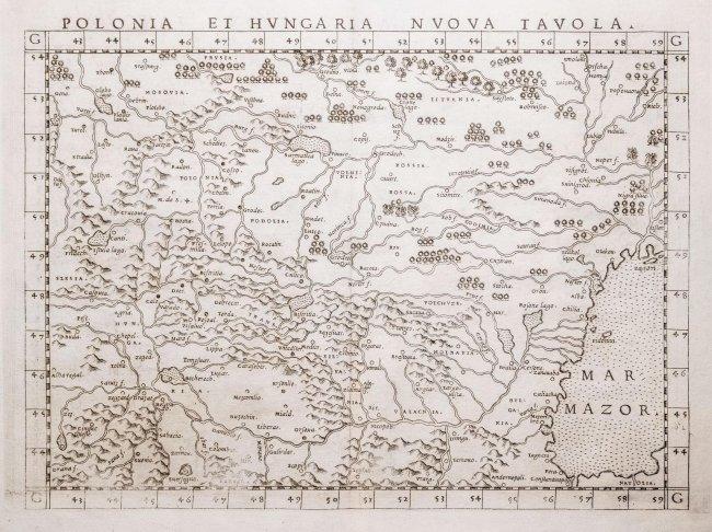 Sebastian Münster | Polonia et Hungaria nuova tavola