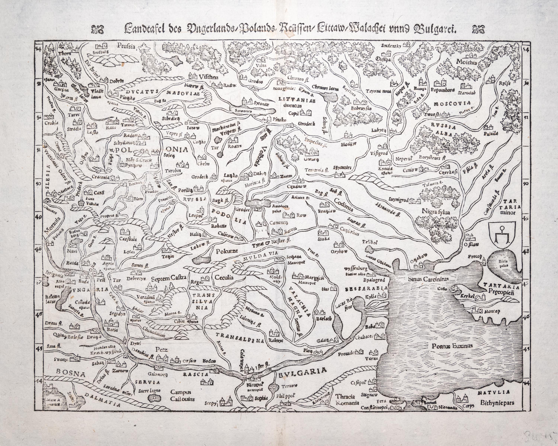 Sebastian Münster | Landtafel des Ungerlands/Polands, Reüssen…