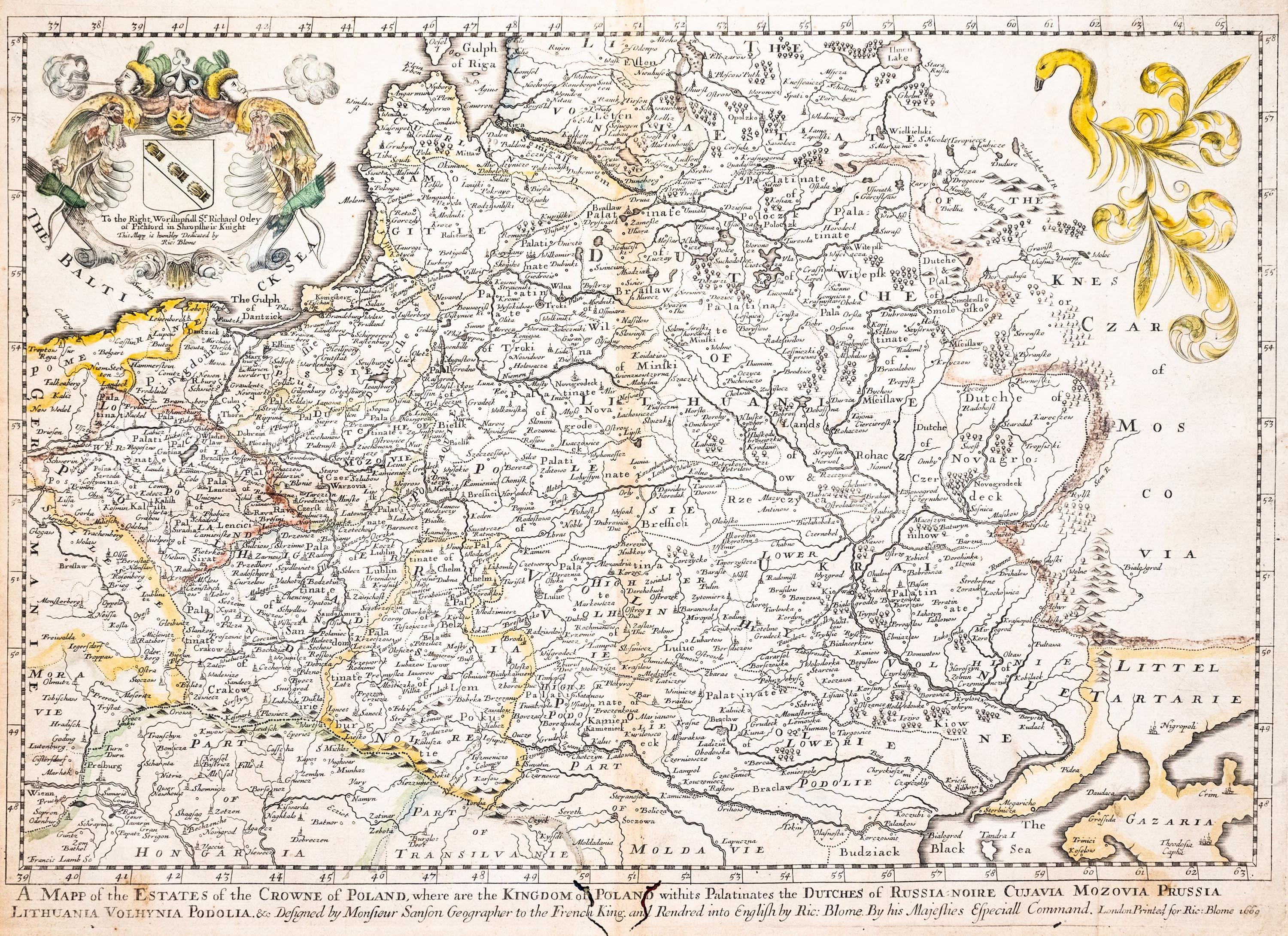 Richard Blome | A Mapp of the Estates of the Crowne of Poland…