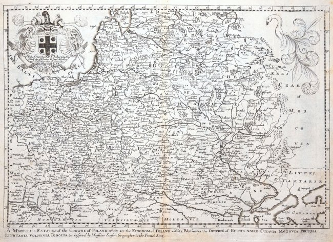 Richard Blome | A Mapp of the Estates of the Crowne of Poland...