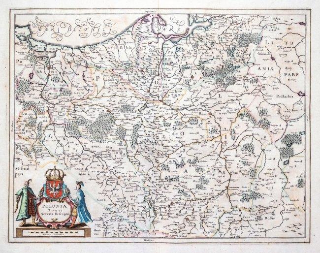 Henricus Hondius, Joannes Janssonius | Poloniae Nova et Acurata Descriptio