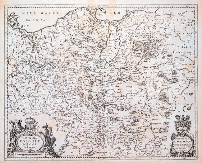 Joannes Janssonius | Novissima Poloniae Regni Descriptio