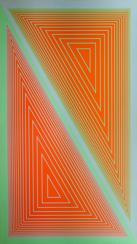 Richard Anuszkiewicz | Triangulated Orange, 1977