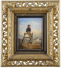 Przy nadmorskim murku, 1847 r.