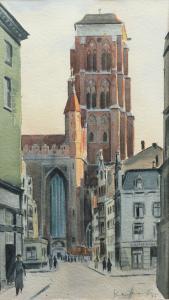 Kościół Mariacki od ulicy Grobla II