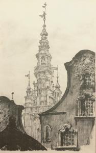 Hełm wieży ratuszowej z posągiem Zygmunta III