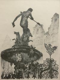 Fontanna przed Dworem Artusa