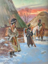 Grenadier z woltyżerem, lata 20-te XX w.