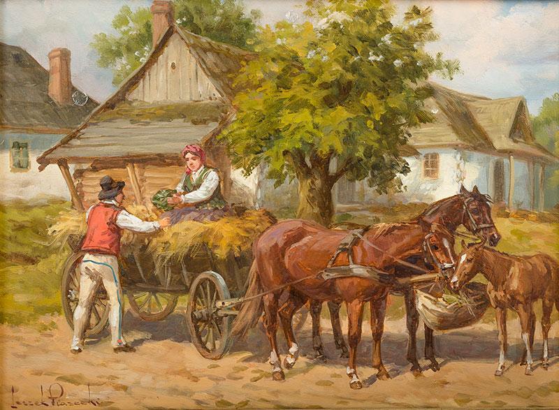 Wóz z sianem