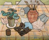 Martwa natura z rękawiczkami, 1958 r.