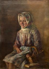 Dziewczynka z koszykiem, 1930 r.