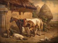 Odpoczynek w zagrodzie, 1858 r.