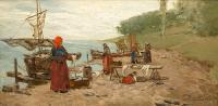 Nad Bałtykiem (Kobiety nad brzegiem morza), lata 1887-1890