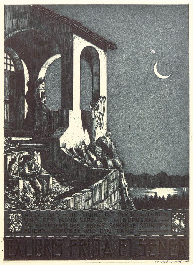 Ex libris Fridy Elsener, ok. 1913 r.
