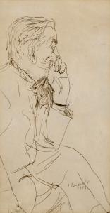 Portret Jana Cybisa, 1957 r.