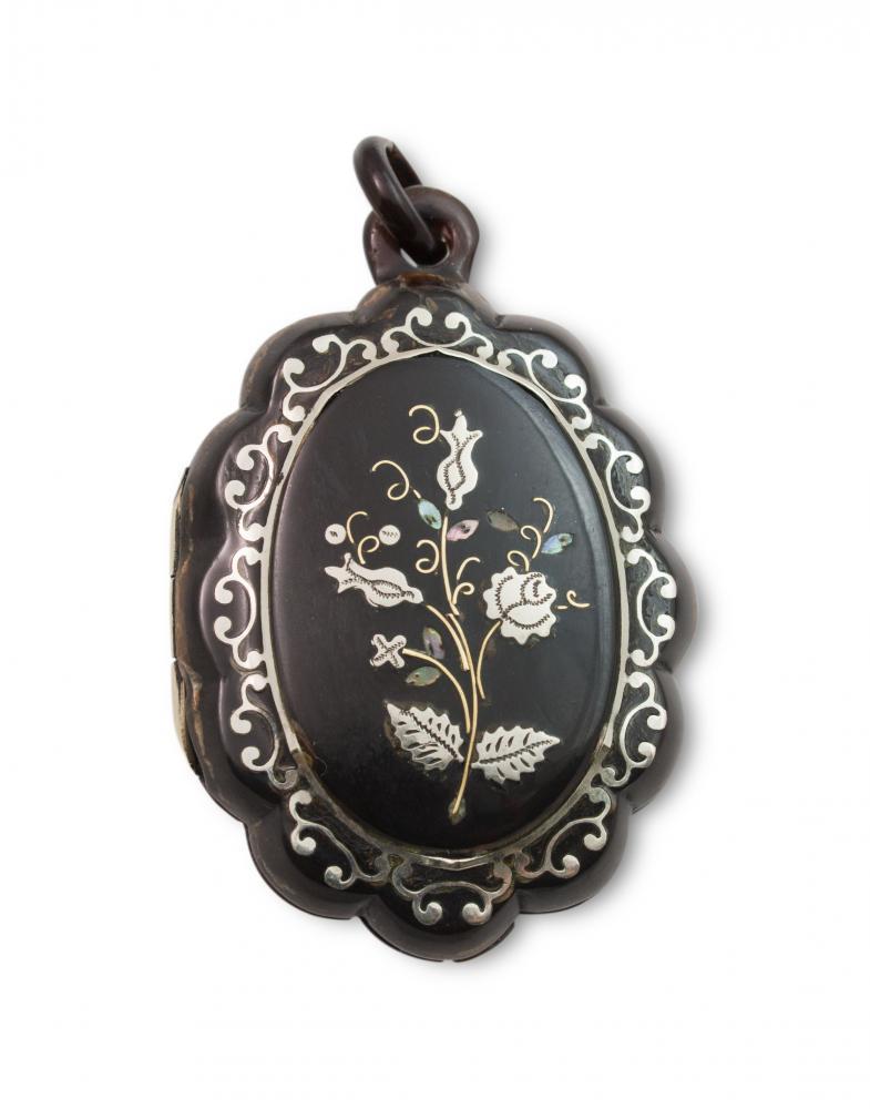 Medalion, połowa XIX w., biedermeier