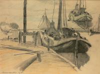 Nabrzeże rybackie w Monnikendam, 1916 r.