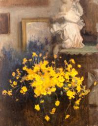 Bukiet kwiatów rumianu żółtego, 1921 r.