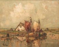 Widok z łodziami