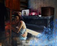 Cycki, pianino, tapeta, 2014