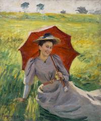 Dama z parasolką, 1892 r.