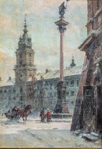 Plac Zamkowy zimą