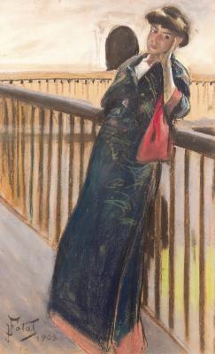 Kobieta w kimonie, 1908 r.