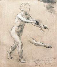 Studium z natury do sceny rodzajowej, l. 1870-1880