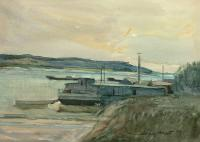 Pejzaż z kutrami, 1994 r.
