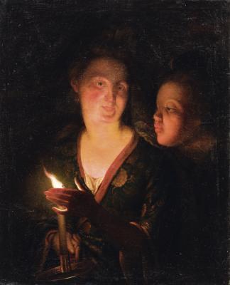 Przy blasku świecy