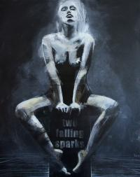 Two falling sparks, 2015