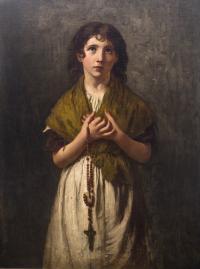 Dziewczynka z różańcem