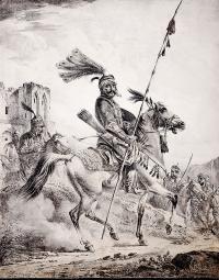 Dowódca Kurdów na koniu, 1819 r.