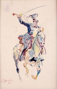 Beliniak na koniu, 1916 r.