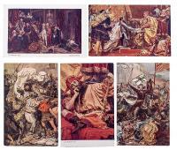 ZESTAW 16 POCZTÓWEK Z HISTORYCZNYMI I BATALISTYCZNYMI OBRAZAMI JANA MATEJKI