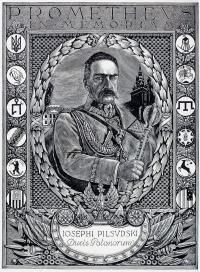 Portret Józefa Piłsudskiego jako twórcy ruchu prometejskiego, 1935 r.