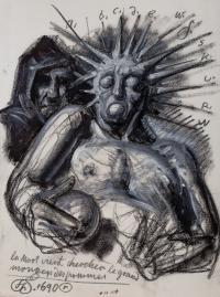 La mort vient chercher la grand mangeur des pommes, 1990