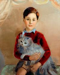 Chłopiec z kotkiem, 1938 r.
