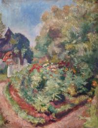 W ogrodzie, około 1920 r.